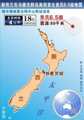4·19新西兰克马德克群岛地震