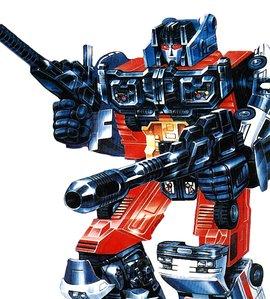 由机器恐龙组合而成,传说中的终极战士 钢锁[grinlock]-变形形态:霸王