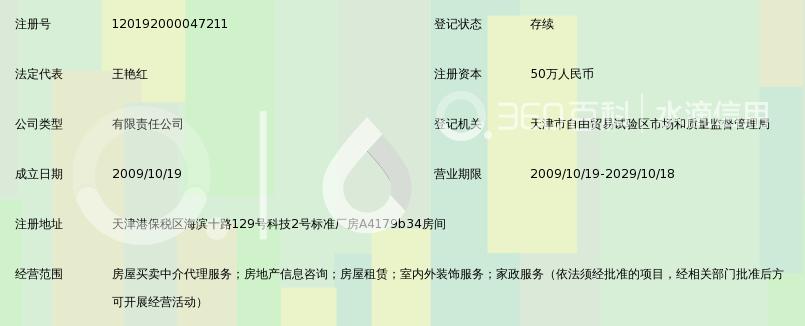天津中信泓诚房屋中介有限公司_360百科