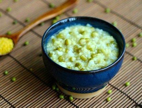 帝王绿豆粥外加工的猪肝蟹图片