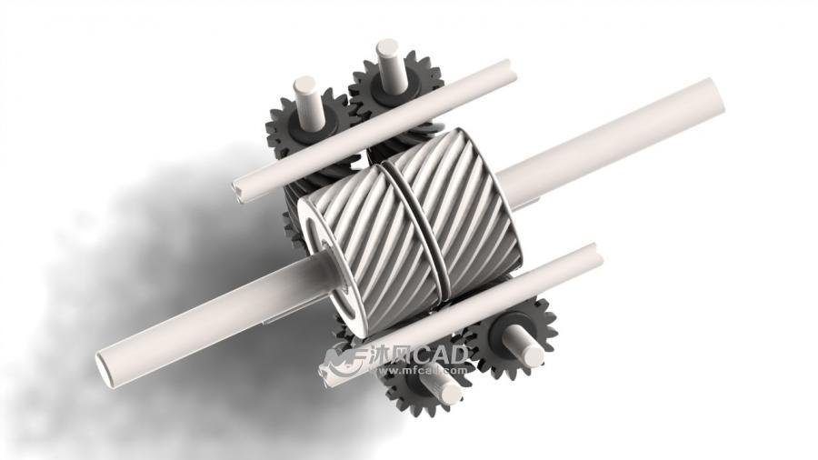 蜗杆结构,正是它们的相互啮合互锁以及扭矩单向地从
