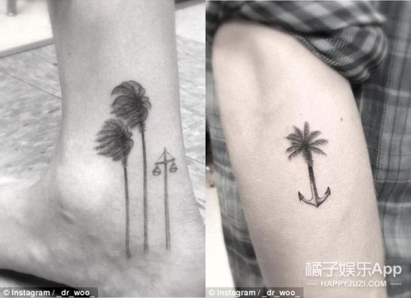 手臂文艺纹身图案大全