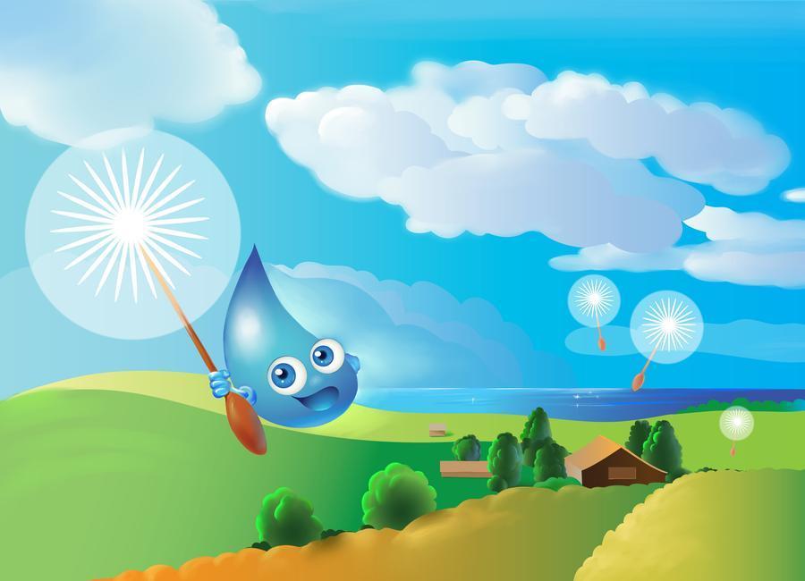 小水滴飞行记