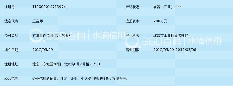 融宜宝积家普惠征信(北京)有限公司_360百科