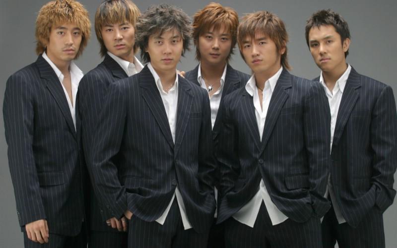 韩国男组合素颜照图片