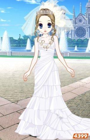 简单漂亮婚纱设计图