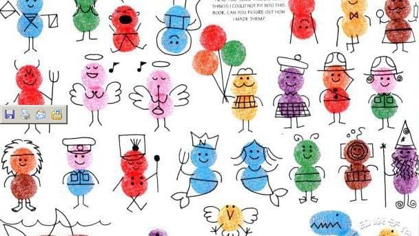 幼儿园指纹画作品_幼儿园手指画图片大全-手指点画图片大全幼儿,宝宝手指画图片 ...