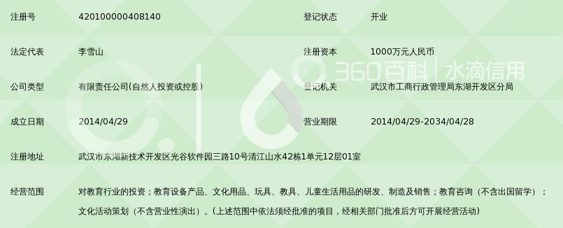 武汉童乐幼教投资管理有限公司_360百科