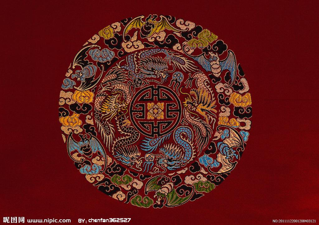 刺绣平针手绘图片