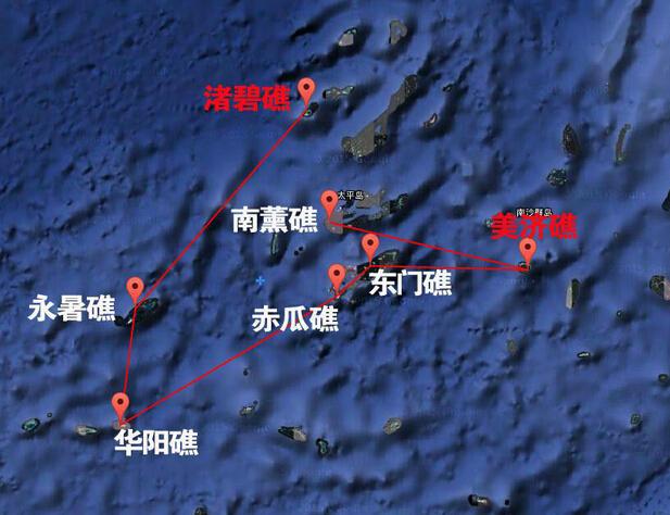 永暑岛地处太平岛至南威岛的中途