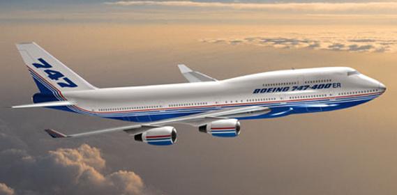 波音747飞机是波音公司生产的四发远程宽机身运输机.
