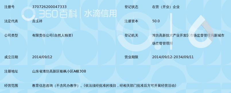潍坊吉照教育培训咨询有限公司_360百科