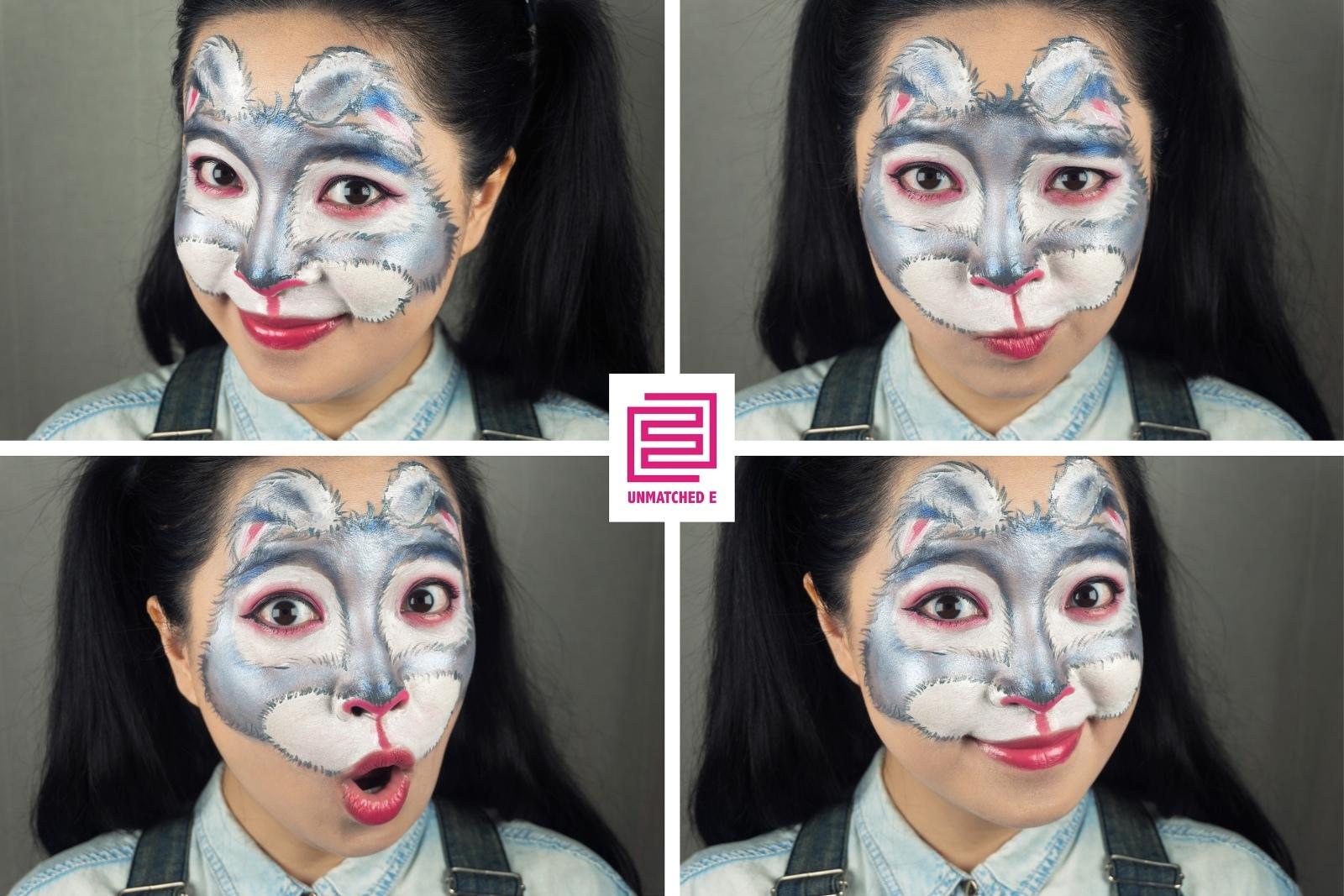 简单脸部动物彩绘样式