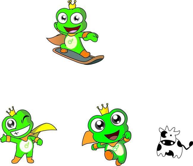 卡通国王戴皇冠图片