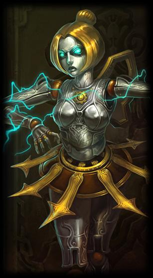 发条魔灵是英雄联盟(简称lol)里面的游戏人物, 奥莉安娜打法多样.