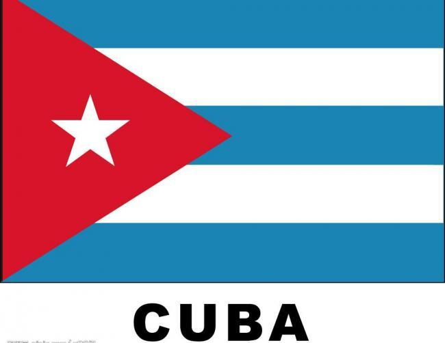 几何素材红色国旗