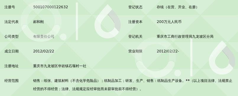 重庆绿康纸制品有限公司_360百科